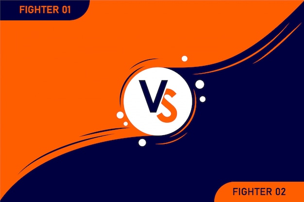 Versus vs letters fight illustration on backgrounds