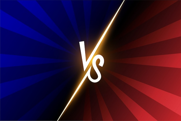 Versus vs letters fight illustration