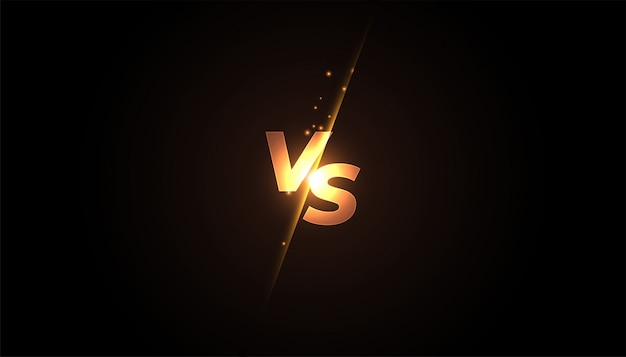 Versus vs screen banner   for battle or comparision