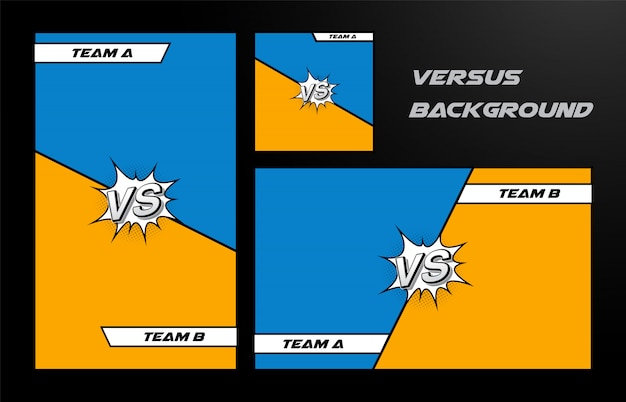 Versus  with comic pop art style.