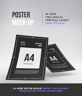 Vertical a4 paper template