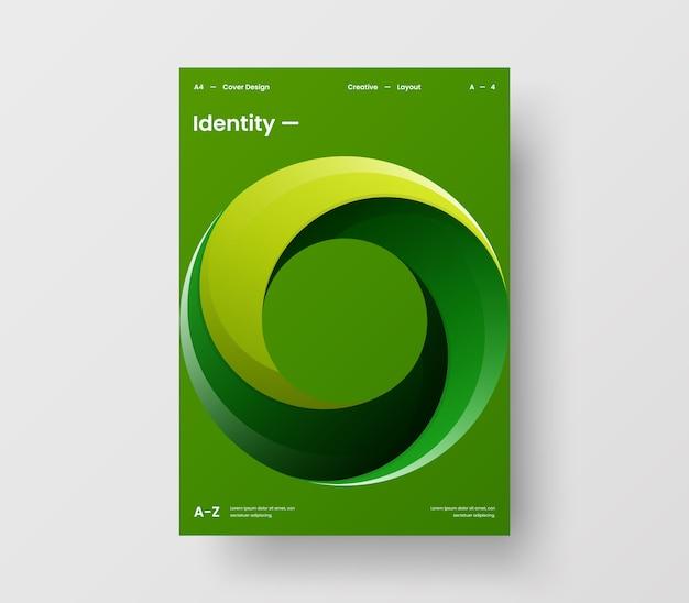 Вертикальный абстрактный круг геометрический бизнес-презентация дизайн макет иллюстрации шаблон брошюры
