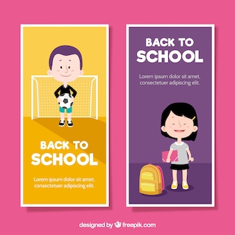 Vertical back to school banners