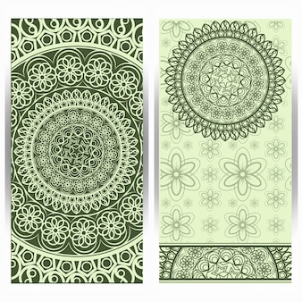 Vertical background with mandala design