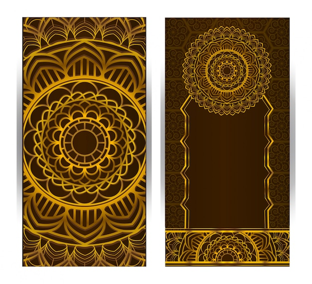 Vertical background with mandala design