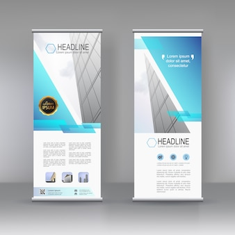 Vertical banner stand template design