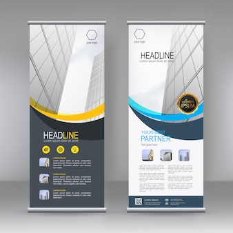 Vertical banner stand template
