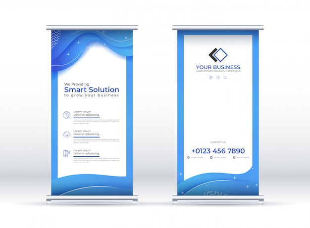 Vertical banner with wave background, environment concept.