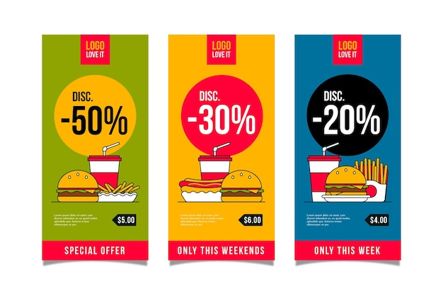 Vertical banners for combo offers