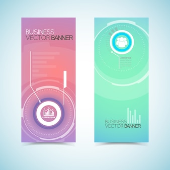 Vertical banners in pastel colors
