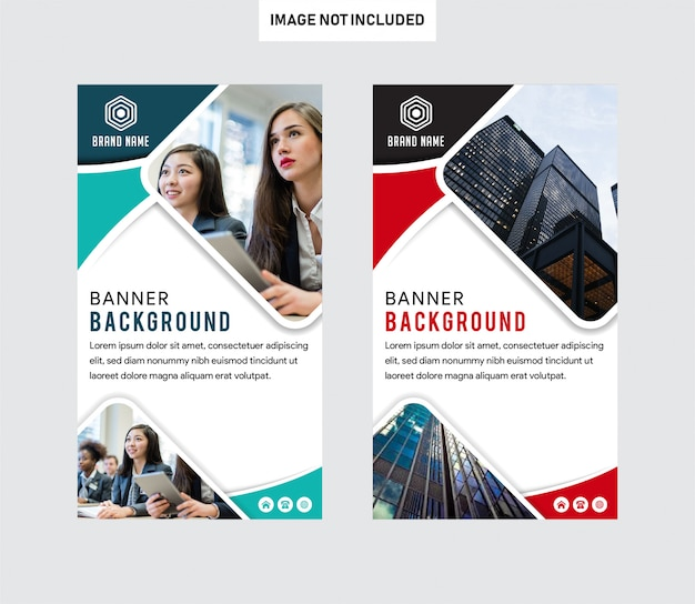 Vertical business brochure flyer banner