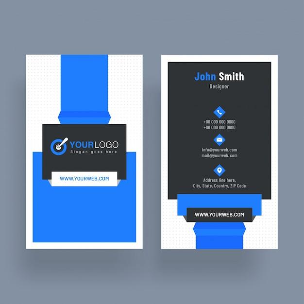 Вертикальная визитная карточка с передней и задней презентацией Premium векторы
