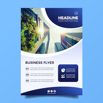 Vertical business flyer template