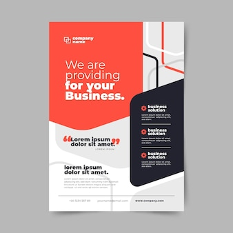 Vertical business flyer template Free Vector