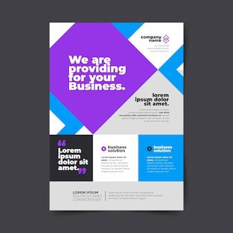 Vertical business flyer template