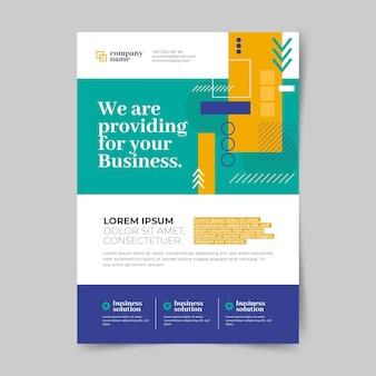 Вертикальный шаблон бизнес-флаера