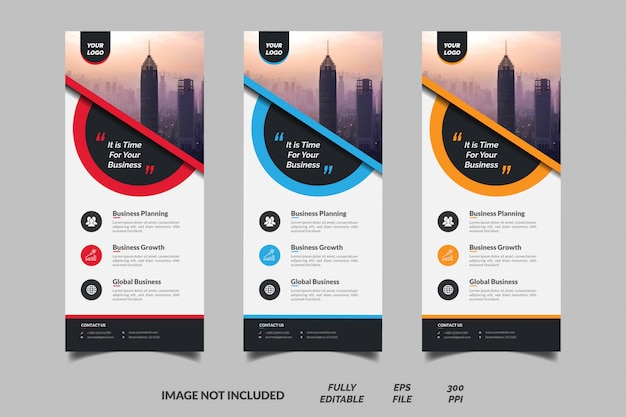 Vertical business roll up banner template