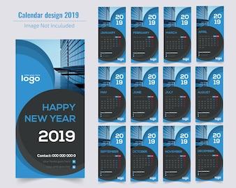 Vertical Calendar Design 2019