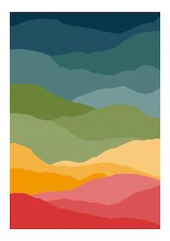 抽象的な波と垂直カード