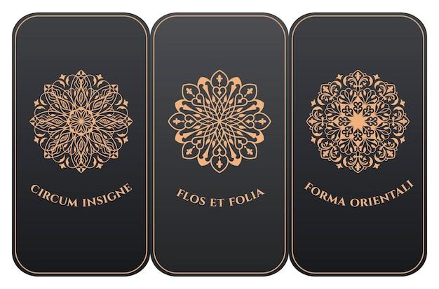 モダンなフローラルスタイルの縦型カードラベルとフレームパッケージ