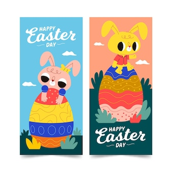 Vertical easter banners pack