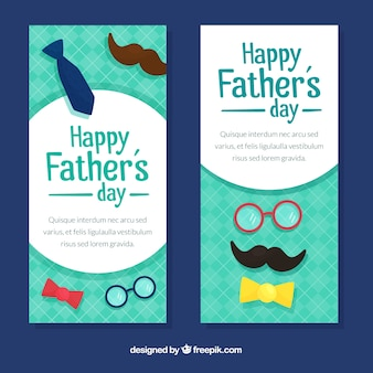 Vertical fathers day banners