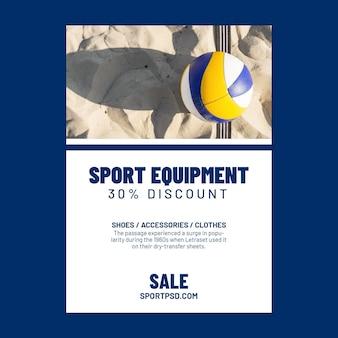 Vertical flyer template for beach volleyball