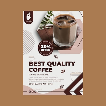 Vertical flyer template for coffee shop
