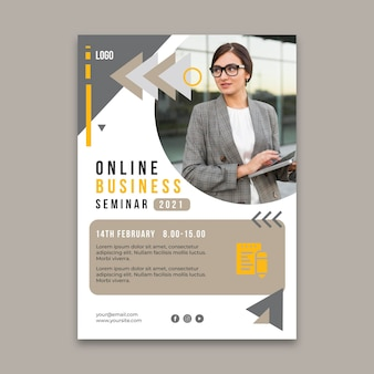 Vertical flyer template for general business