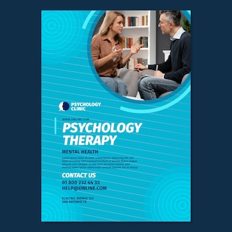 Vertical flyer template for psychology therapy