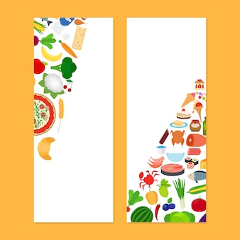 Vertical flyers vith food