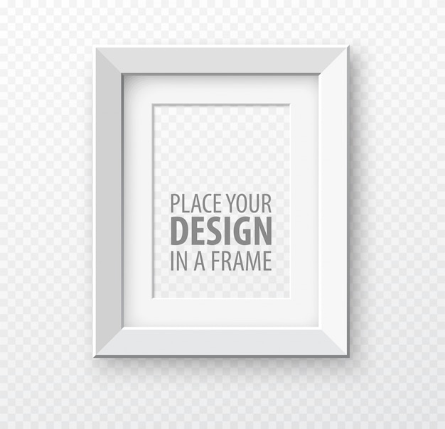 Вертикальная рамка на прозрачном фоне с реалистичными тенями. иллюстрация