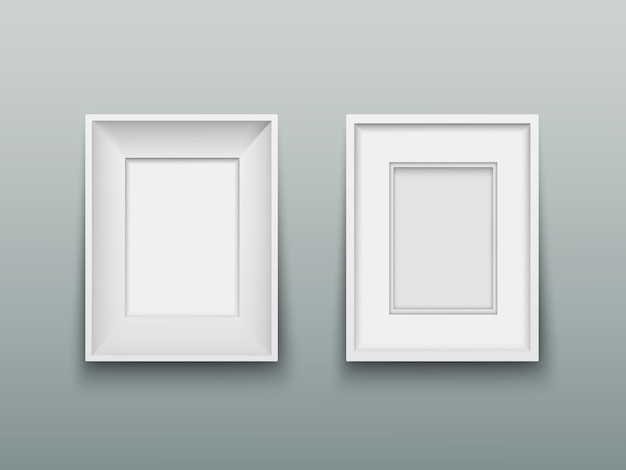 Vertical frame for photos or paintings on wall