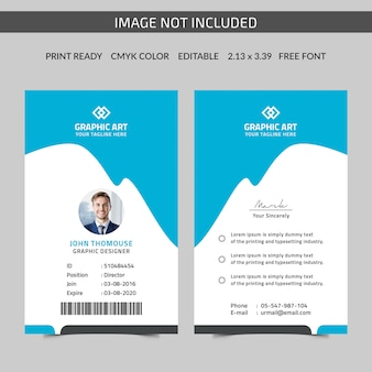 Vertical id card template