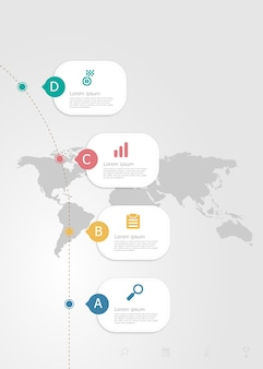 Vertical infographics 4 steps