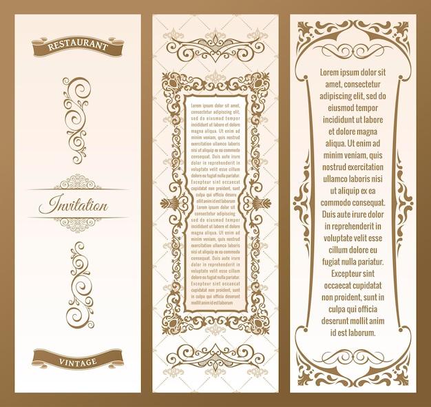 Vertical labels frame packaging of design elements