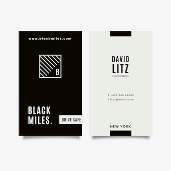 Vertical monochrome business cards collection