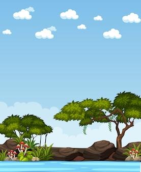 垂直の自然のシーンや風景の田園地帯