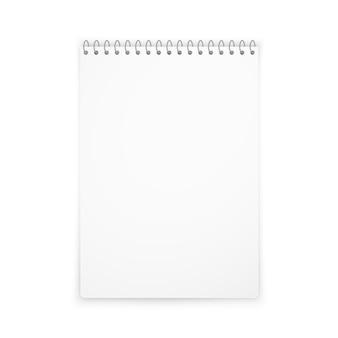 Vertical notebook mockup shadow