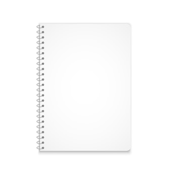 Vertical notebook mockup shadow Premium Vector