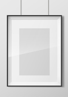 Vertical photo frame with glass