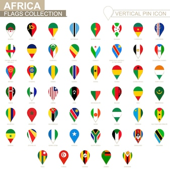 Вертикальный значок булавки, коллекция африканского флага.