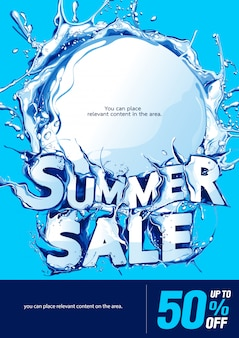 Vertical poster summer sale background