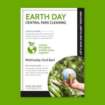 Vertical poster template for mother earth day celebration