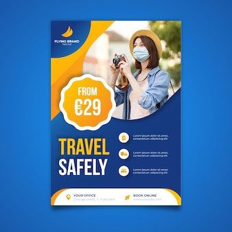 Vertical poster template for traveling
