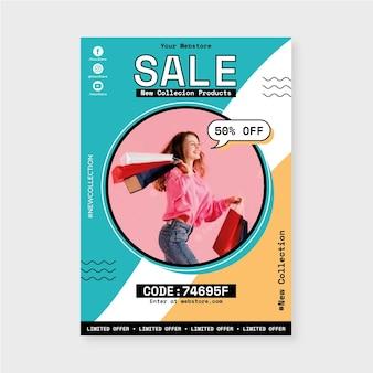 사진이 있는 수직 판매 포스터 템플릿