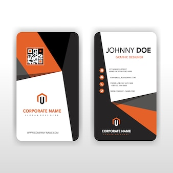 Vertical shape abstract corporate card