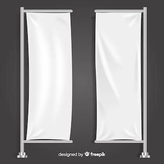 Vertical textile banner collection