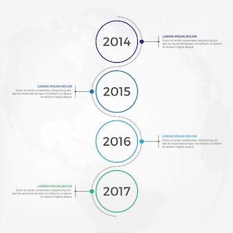 Vertical timeline infographic design