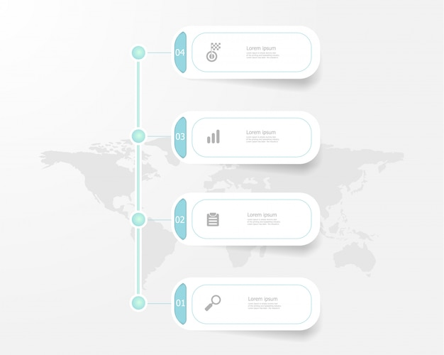 Vertical timeline infographics steps for business and education